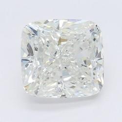4.01 Carat H-SI1 Cushion Diamond