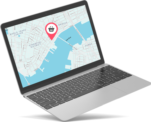 Select a jewelry store near you on a laptop google map