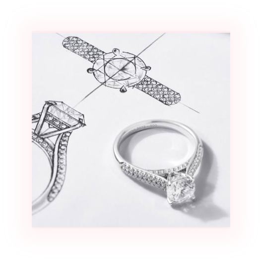Design of engagement ring and a diamond ring