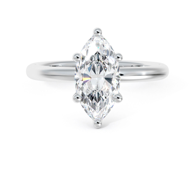 Marquise engagement ring - solitaire